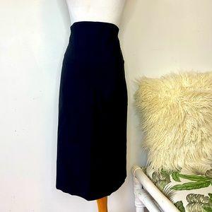 Portmans Size 12 Black Straight Pencil Skirt